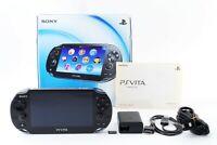 "w/ Memory card 8GB +Fullset Sony PS Vita Black PCH-1000 From Japan ""Exc"""