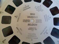 1953 Vintage Sawyers Viewmaster Reel ~ BRUSSELS BELGIUM 1950
