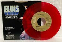 ELVIS PRESLEY - AMERICA/MY WAY - CANADA 1977 RED VINYL 45RPM - LIMITED EDITION