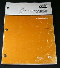 CASE 530CK Parts Manual Construction King Wheel Tractor CK Book Catalog List 530