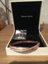 Warren James Silver Crossover Bracelet and Matching Ring with Gold Finish