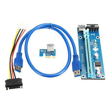5x USB 3.0 PCI-E Express 1x to 16x Extender Riser Card Adapter SATA Power C E0J4