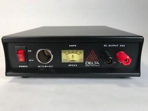 DELTA DPS33 33 Amp 12-13.8v AC/DC Power Supply w/ Volt AMP Meter Ham CB Radio