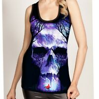 COLD HEART GATES OF HELL LONG VEST TOP GOTH ALTERNATIVE EMO
