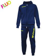 Givova King Tuta da ginnastica Blu/giallo Fluo 2xs