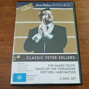 Classic Triple Peter Sellers 3 DVD  R4 Like New! – FREE POST