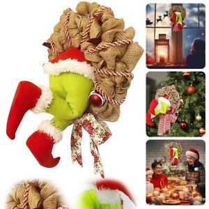 Large Christmas Decoration Christmas Garland Wreath Thief Stole Grinch Plush Leg