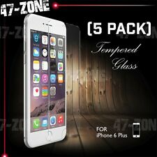 "For Apple iPhone 6 6S Plus 5.5"" Clear Tempered Glass Screen Protector 5 PC"