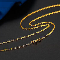 New Arrival Fine Solid Au750 18K Yellow Gold Women's O Chain Necklace