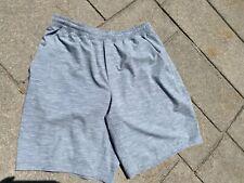 "Lululemon grey lined shorts 9"" inseam men's large L"