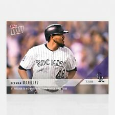 2018 TOPPS NOW #449 1ST PITCHER TO HIT HR OFF POSITION PLAYER GERMAN MARQUEZ