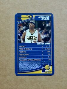 2007 Basketball TOP TRUMPS Card - Jermaine O'NEAL - Indiana Pacers - UK Edition