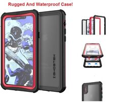 IPhone X For Ghostek Waterproof Rugged Protection Cover Case Nautical Red/Black