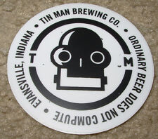 TIN MAN BREWING robot Evansville Logo STICKER decal craft beer brewery