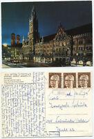18965 - München - Marienplatz bei Nacht - Ansichtskarte, gelaufen 7.6.1973