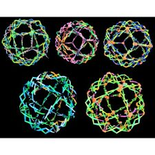 COLORFUL EXPANDABLE BALL TRANSFORMING SPHERE KIDS FUN RAINBOW MAGIC NEON TOY