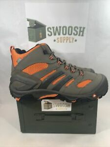 Merrell Mens Size 7 Work Strongfield Mid Waterproof Composite Toe Work Boots