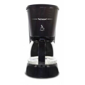 Cafetière électrique 6Tasses  anti-gouttes Puissance 650W Arrêt automatique noir