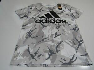 Adidas Boy Camo Large 14-16 Cotton Tshirt Nwt