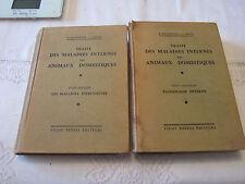 TRAITE DES MALADIES INTERNES DES ANIMAUX DOMESTIQUES TOME 1 et 2  VIGOT1959-60