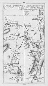 1778 Ireland Dundalk Newry Carlingford Kilkeele Dundrum Clough Antique Road Map