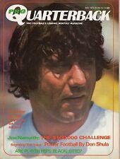 1972 (Nov.) Pro Quarterback Football magazine, Joe Namath, New York Jets ~ VG