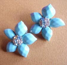 Boucles d/'oreilles Cabochon en verre L/'arbre Multicolor bleu turquoise BFPVM017