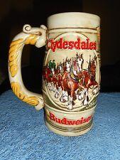 Vintage BUDWEISER MUG Ceramic CLYDESDALES AB PROMOTIONAL PRODUCTS Beer STEIN