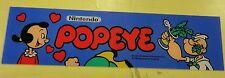 Nintendo Popeye Arcade Game Marquee on lexan