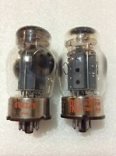 Matched Pair RCA 6550 Tung-Sol Made Tubes NOS-Testing Gray Plates