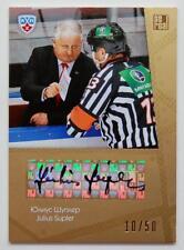 2013-14 KHL Gold Collection Coach's Autograph #COA-010 Julius Supler 10/50