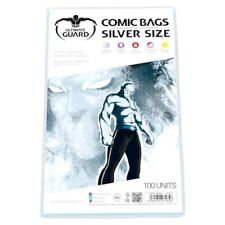 10 Ultimate Guard Comic Bags With 10 Backing Boards Silver Size