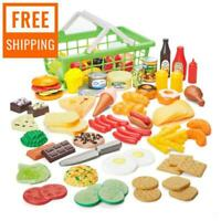 100-Piece Pretend Play Food Set for Kids