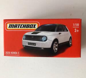 2021 MATCHBOX #1 - 2020 Honda E (White - Mix 5) 1x Power Grab - New & Unopened