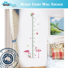 Wall Stickers Removable Flamingo Height Kids Nursery Decal Growth Chart Girl