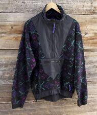 Vintage Rei Marsupial 1/2 Zip Fleece Pullover w Retro Pattern Size Medium