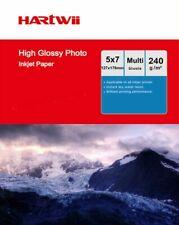 5x7 Photo Paper Inkjet Paper High Glossy 230 240Gsm 127x178mm 7x5 Hartwi
