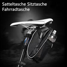 1x Bicycle Saddle Seat Bag Tail Rear Pouch Storage Bike Kettle Bottle Bag Black