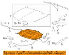 Chevrolet GM OEM 10-15 Camaro Hood-Insulation Pad Liner Heat Shield 23167548