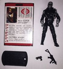 GI JOE ROC NEO VIPER OFFICER  V1 100% Complete With Filecard TOYS R US EXCLUSIVE