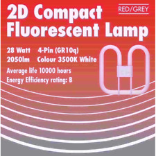 Nuevo 2D Bombilla Fluorescente Tubo 16 vatios 28 vatios 2 Pin 4 Pin