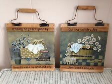 Country Primitive Laundry Wall Hangings