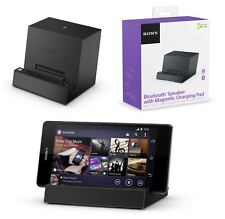 NEW GENUINE SONY BLUETOOTH SPEAKER & MAGNETIC DOCK - XPERIA Z2 Z3 COMPACT TABLET