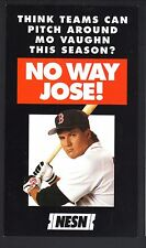 Jose Canseco--1995 Boston Red Sox Revised Schedule--NESN