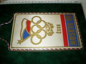 Vintage Pennant 1980 Summer Olympics Moscow  Czechoslovak team
