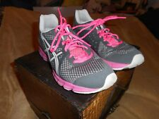 ASICS RUSH 33 WOMEN'S GRAY, PINK, AND WHITE GYM SHOES SIZE 8
