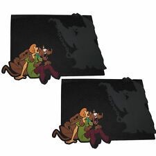 2 Pc Scooby Doo & Shaggy Scared All Rubber Rear Mats Car Truck SUV Universal Fit