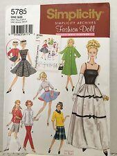 Simplicity Fashion Doll Pattern 5785 New Uncut