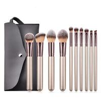 Pro 10pcs Kabuki Makeup Brush Set Foundation Powder Eyeshadow Blush Lip Brushes