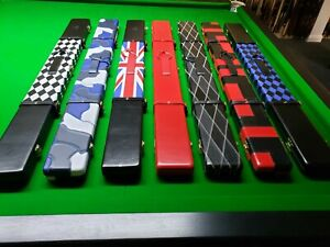 very high quality GENUINE leather Pool Snooker Cue Case 3/4 Peradon